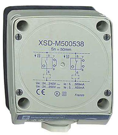 Telemecanique Sensors Inductive Sensor - Block, NO/NC Output, 60 mm Detection, IP67, Cable Terminal