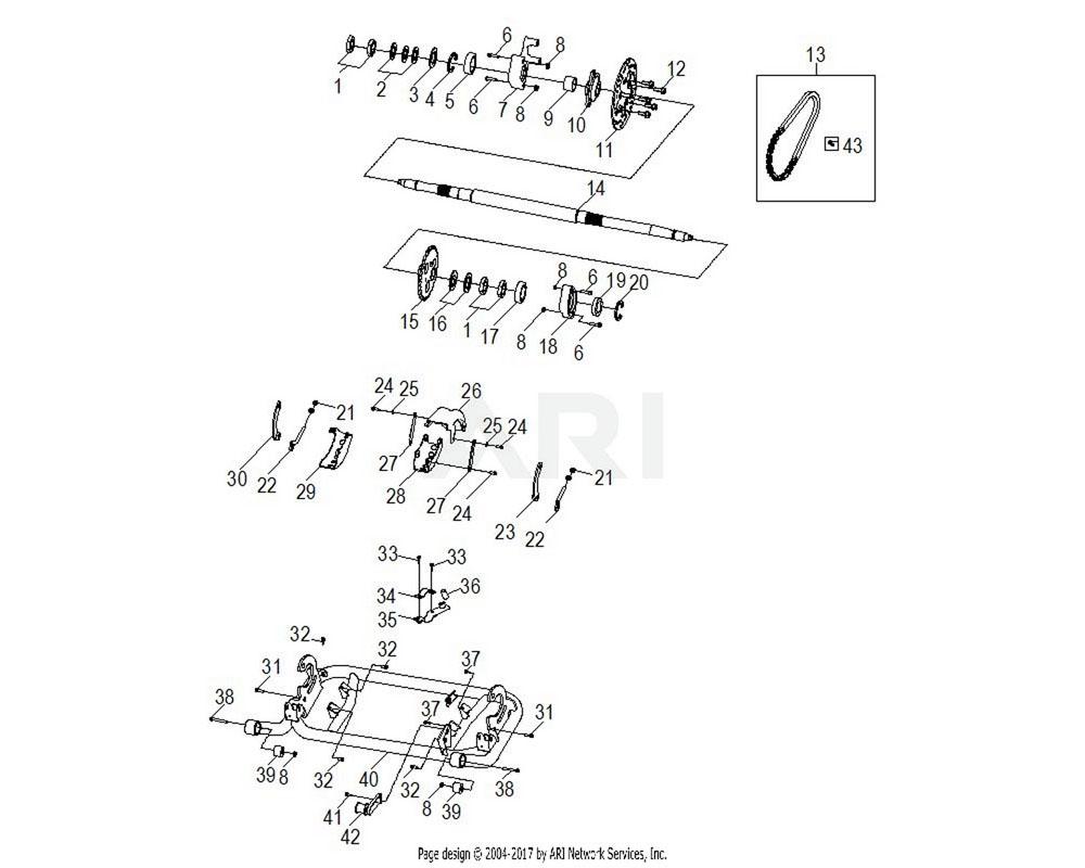 Polaris OEM 0454508 CLAMP, TUBE, AXLE HUB, RH