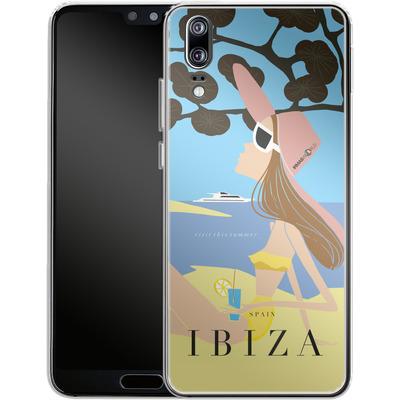 Huawei P20 Silikon Handyhuelle - IBIZA TRAVEL POSTER von IRMA