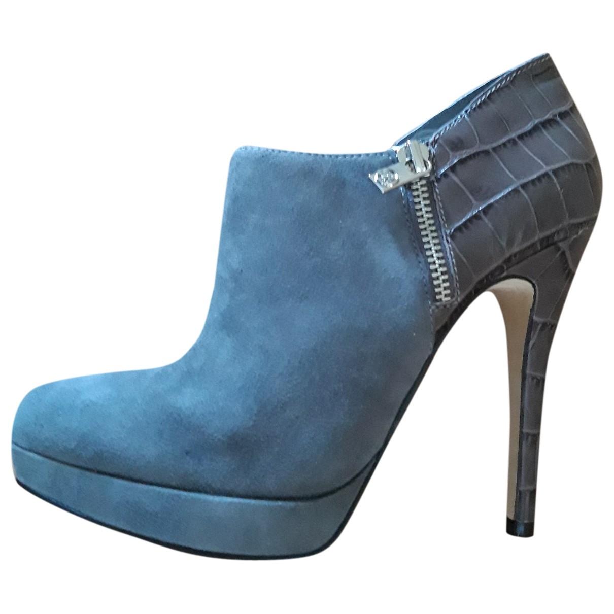 Michael Kors - Boots   pour femme en suede - gris