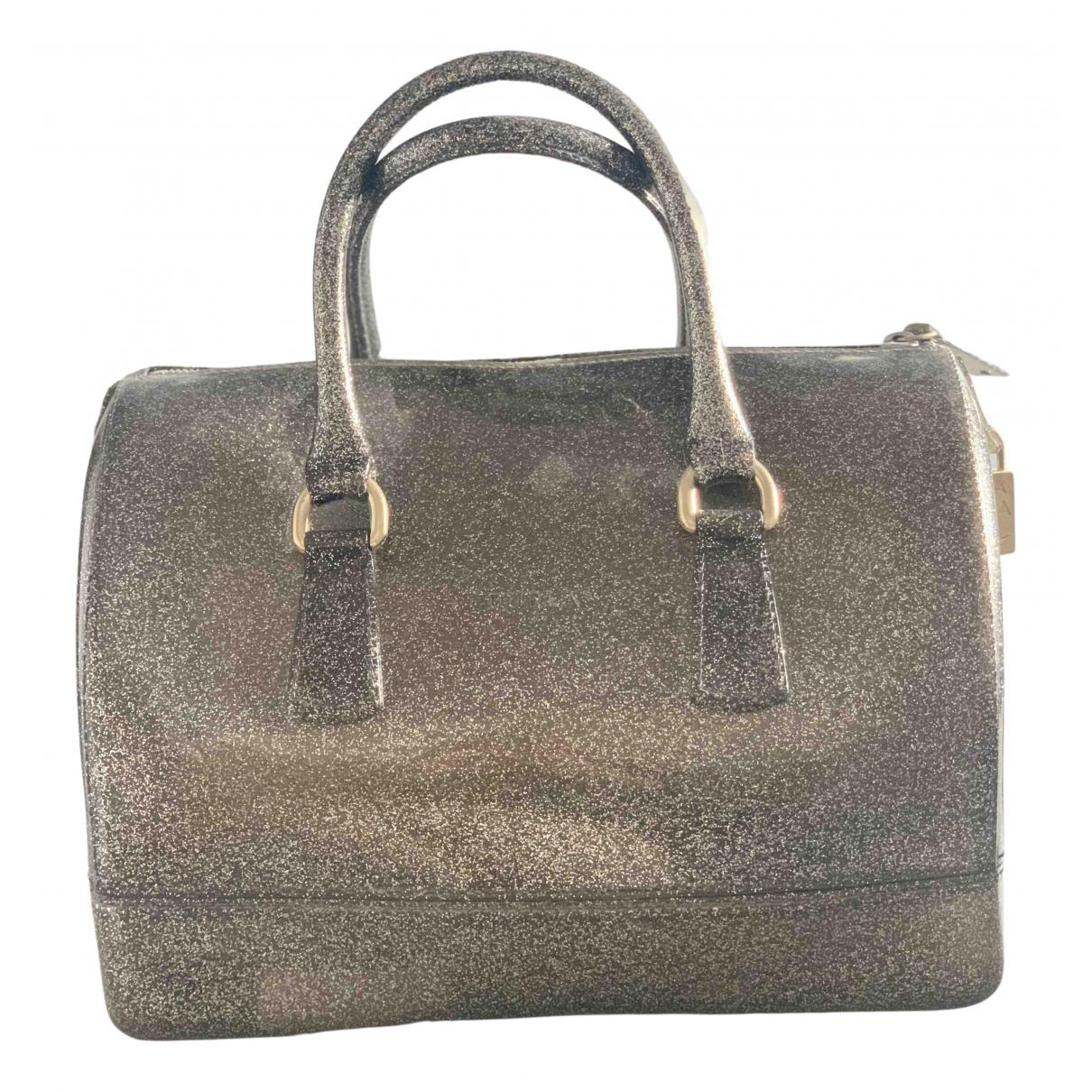 Furla Candy Bag Handtasche in  Grau Kunststoff