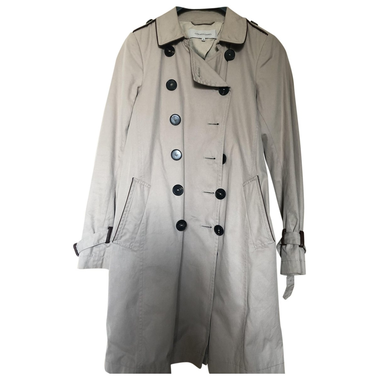 Gerard Darel \N Beige Cotton Trench coat for Women 34 FR