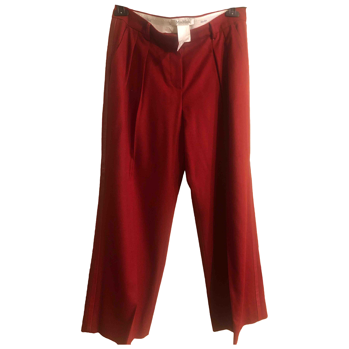 Max Mara Max Mara Atelier Red Exotic leathers Trousers for Women 48 IT