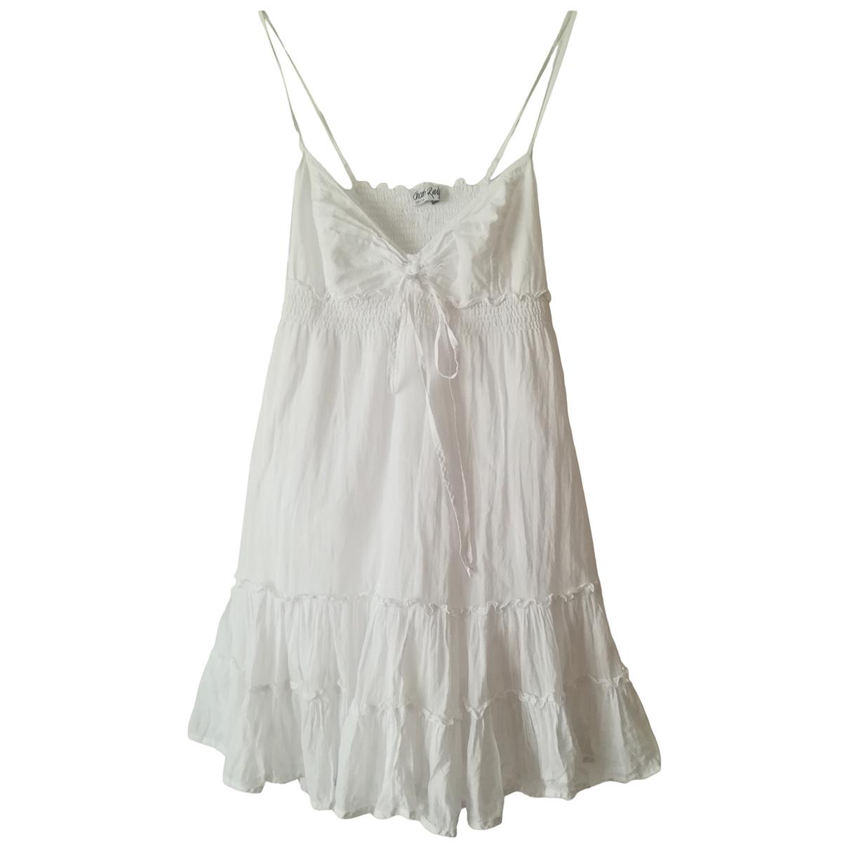 Charo Ruiz - Robe   pour femme en coton - blanc