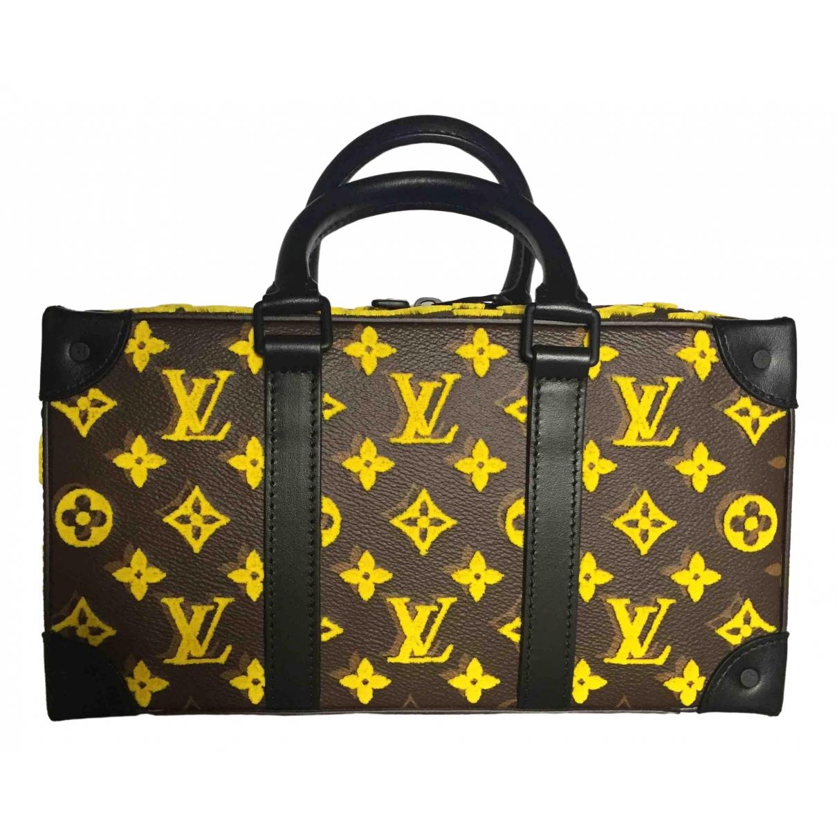 Louis Vuitton Speedy trunk Yellow Cloth bag for Men \N