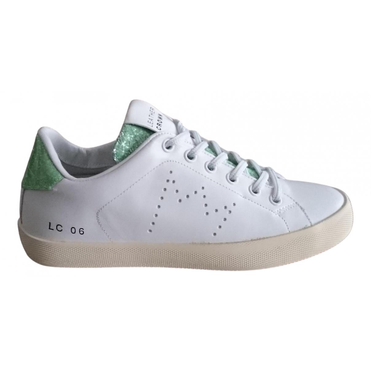 Leather Crown - Baskets   pour femme en cuir - blanc