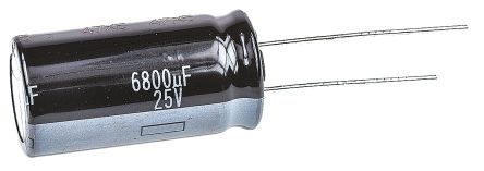 Panasonic 6800μF Electrolytic Capacitor 25V dc, Through Hole - EEUHD1E682