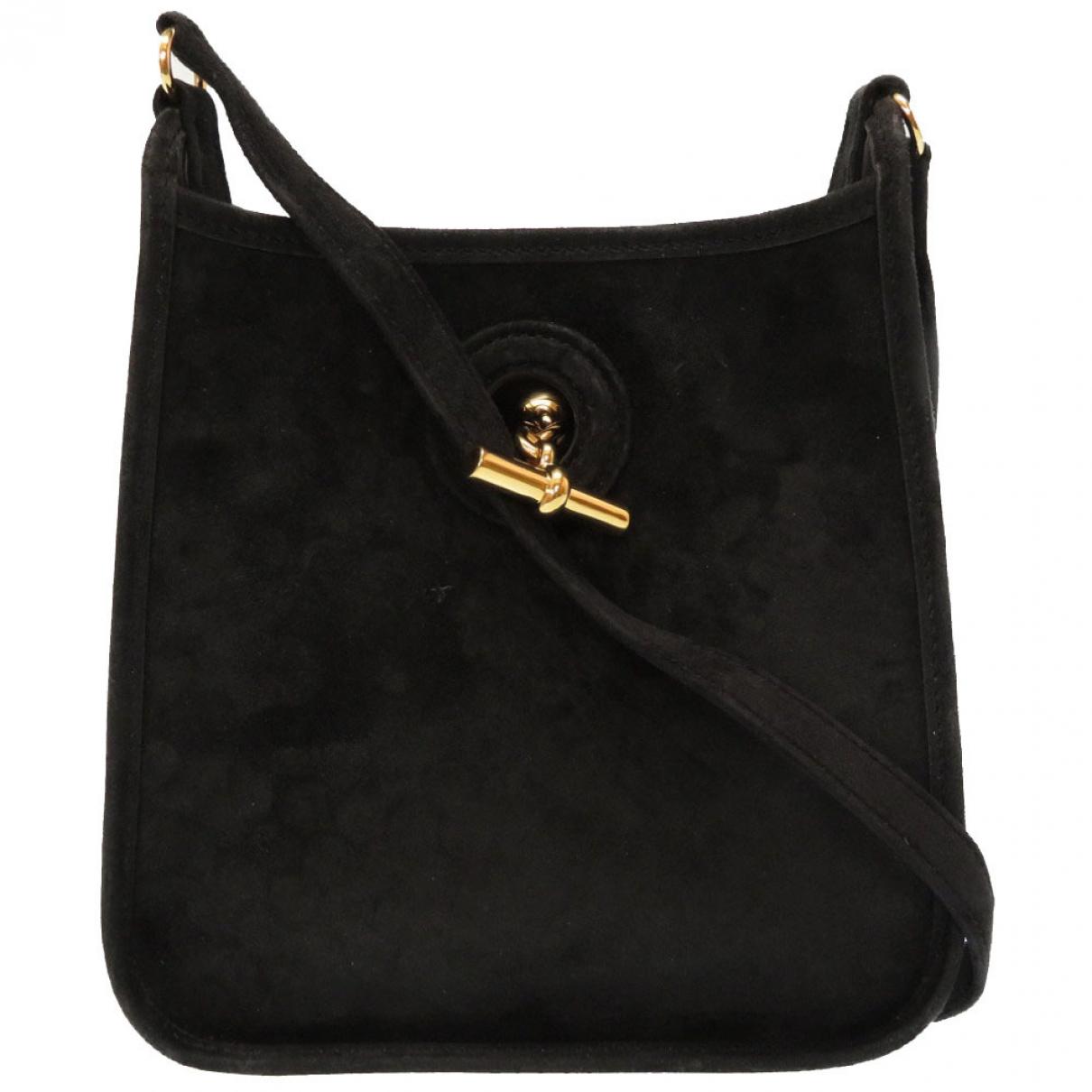 Hermès Vespa Black Suede handbag for Women \N