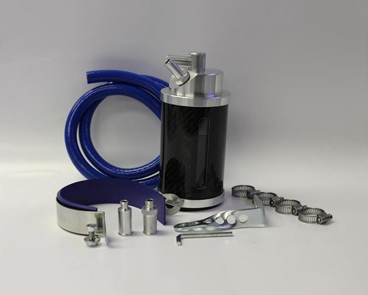Prosport Performance Carbon Fiber Oil Catch Can Kit-6An | 8An Fittings Included