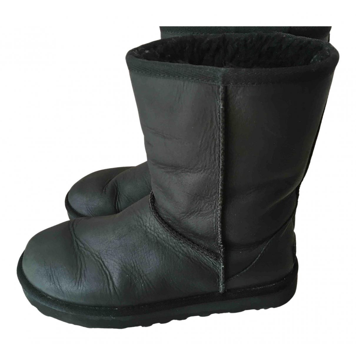 Ugg - Boots   pour femme en cuir - bleu