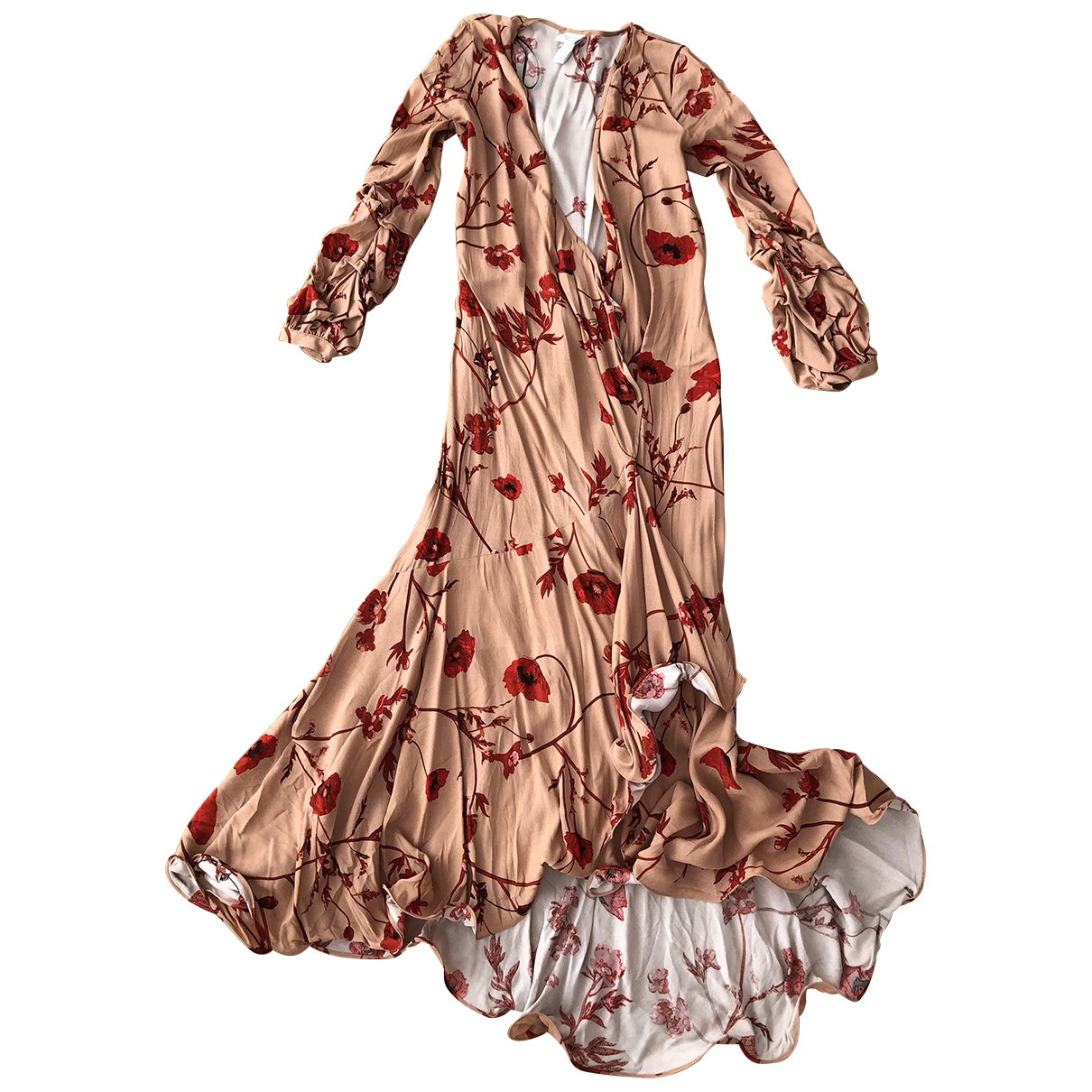 Johanna Ortiz X H&m \N Kleid in  Rot Viskose