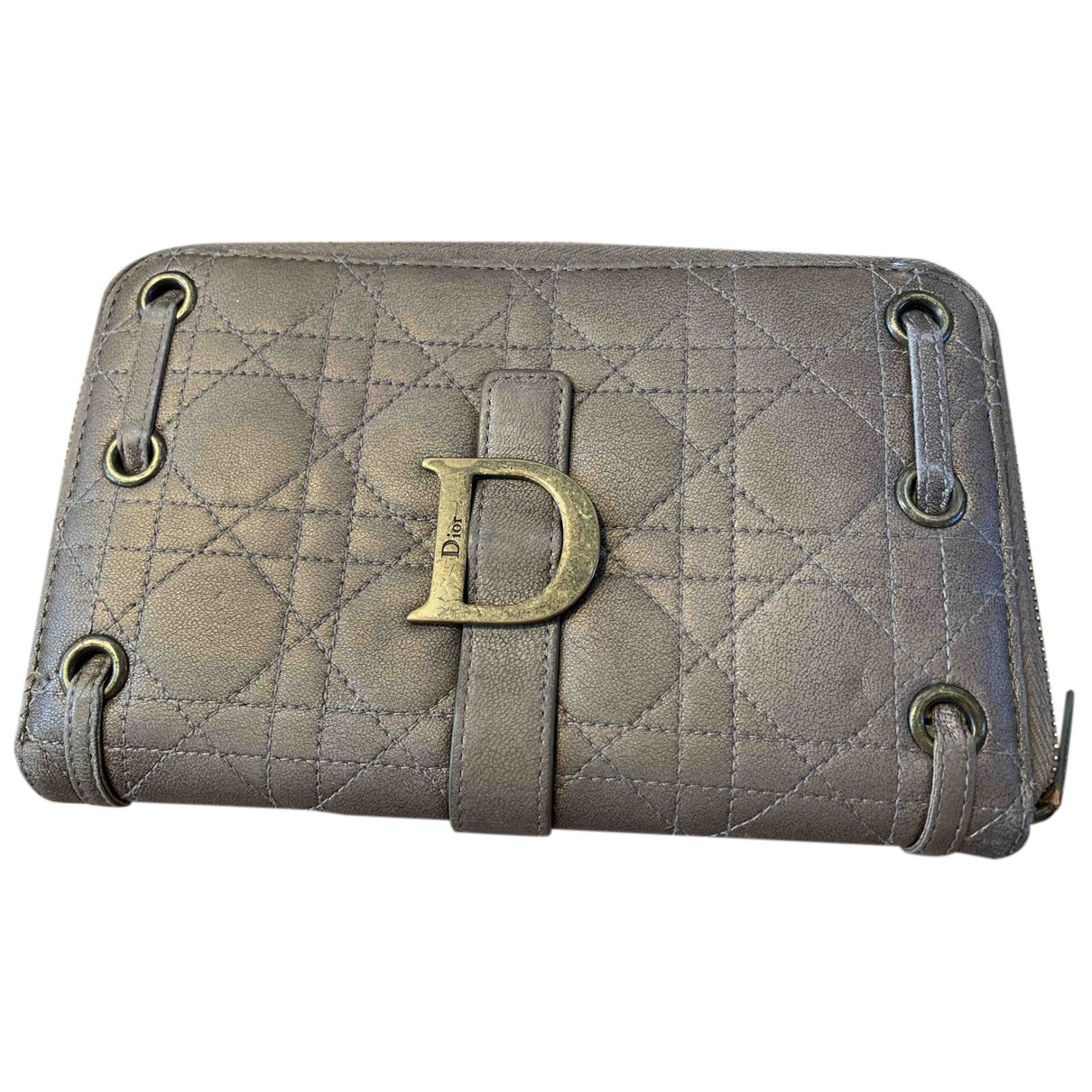 Dior \N Kleinlederwaren in  Gold Leder