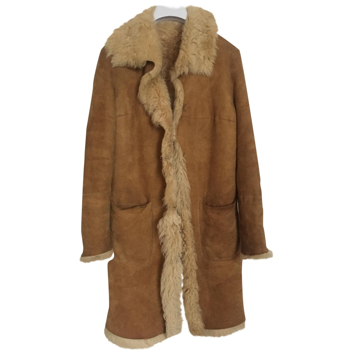 Non Signé / Unsigned \N Camel Shearling coat for Women S International