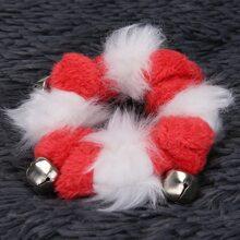 Weihnachten Halskette mit Klingel Dekor fuer Katze