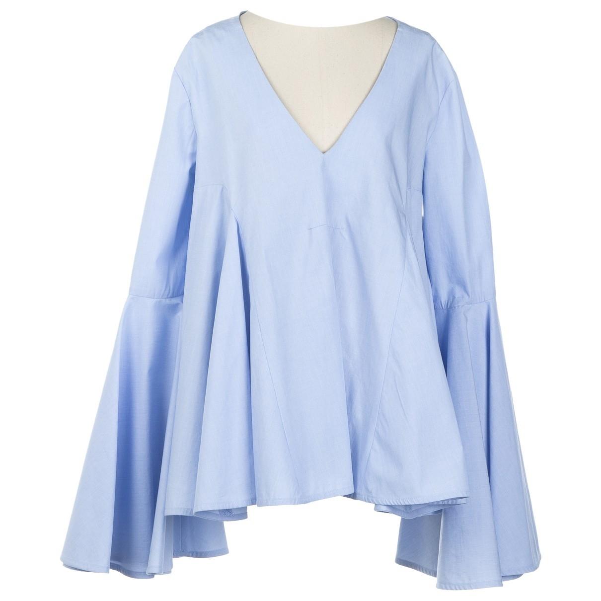 Ellery - Top   pour femme en coton - bleu