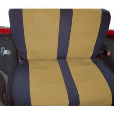 Coverking Neoprene Rear Seat Cover (Black/Tan) - SPC172