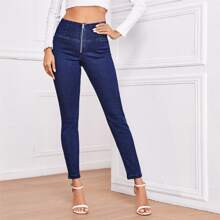 Push Up Schmale Jeans mit hoher Taille