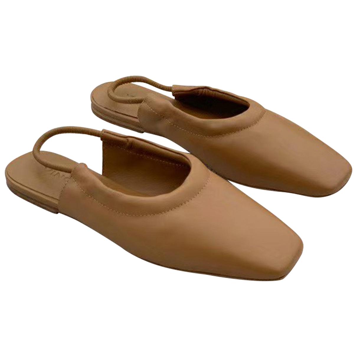 Vince - Sandales   pour femme en cuir - camel