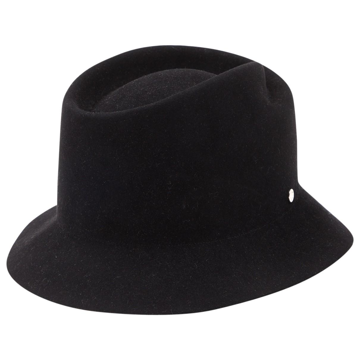 Hermes \N Hut, Muetzen in  Schwarz Wolle