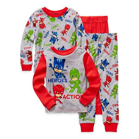 Toddler Boys 4-pc. PJ Masks Pajama Set, 3t , Red