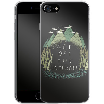 Apple iPhone 7 Silikon Handyhuelle - Get Off The Internet von Louis Ros