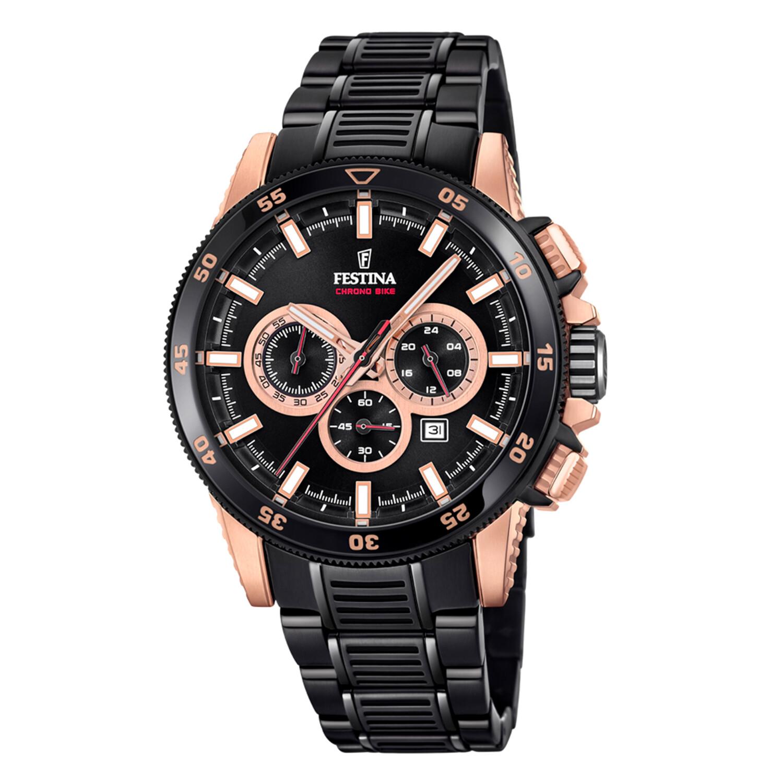 Festina Mens Special F20354-1F37 Black Stainless-Steel Quartz Dress Watch