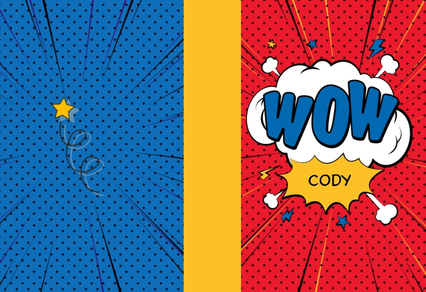 Comic Wow 5x7 Spiral Notebook, Card & Stationery -Comic Wow