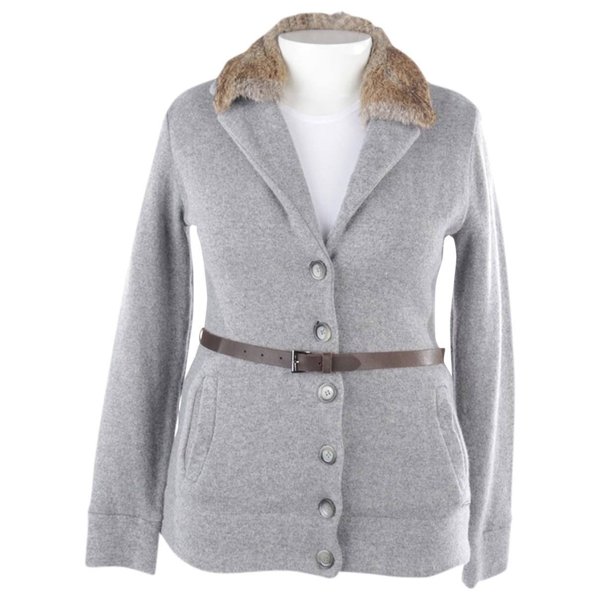 Woolrich \N Pullover in  Grau Baumwolle