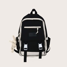 Guys Release Buckle Front Backpack With Bag Charm