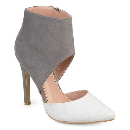Journee Collection Womens Zinia Pumps Stiletto Heel, 8 1/2 Medium, White