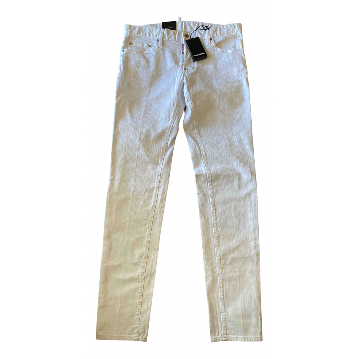 Dsquared2 \N White Cotton Jeans for Men 46 FR