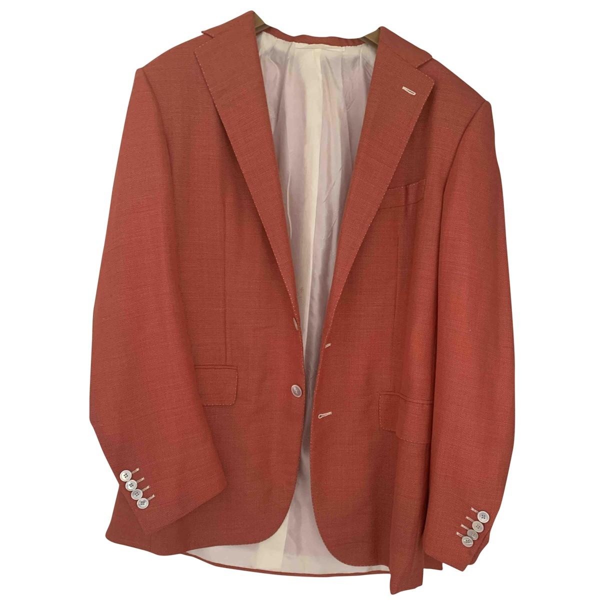 Stefano Ricci - Costumes   pour homme en lin - rouge