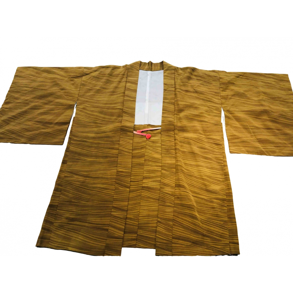 Non Signé / Unsigned Oversize Gold Silk jacket for Women One Size 0-5