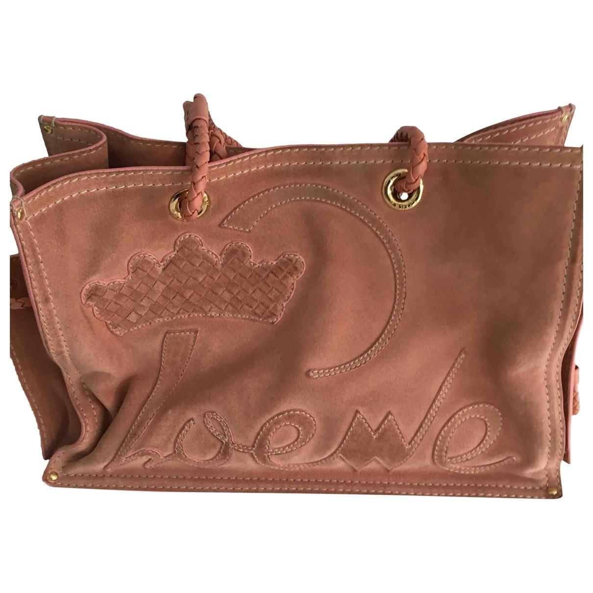 Loewe \N Handtasche in  Rosa Veloursleder