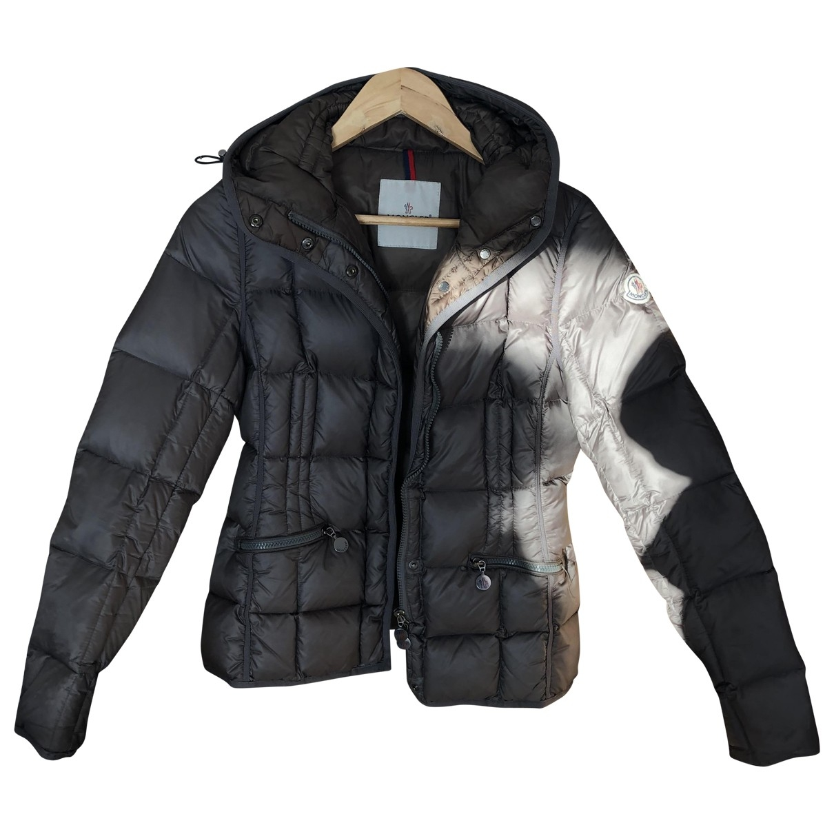 Moncler Hood Jacke in  Anthrazit Wolle