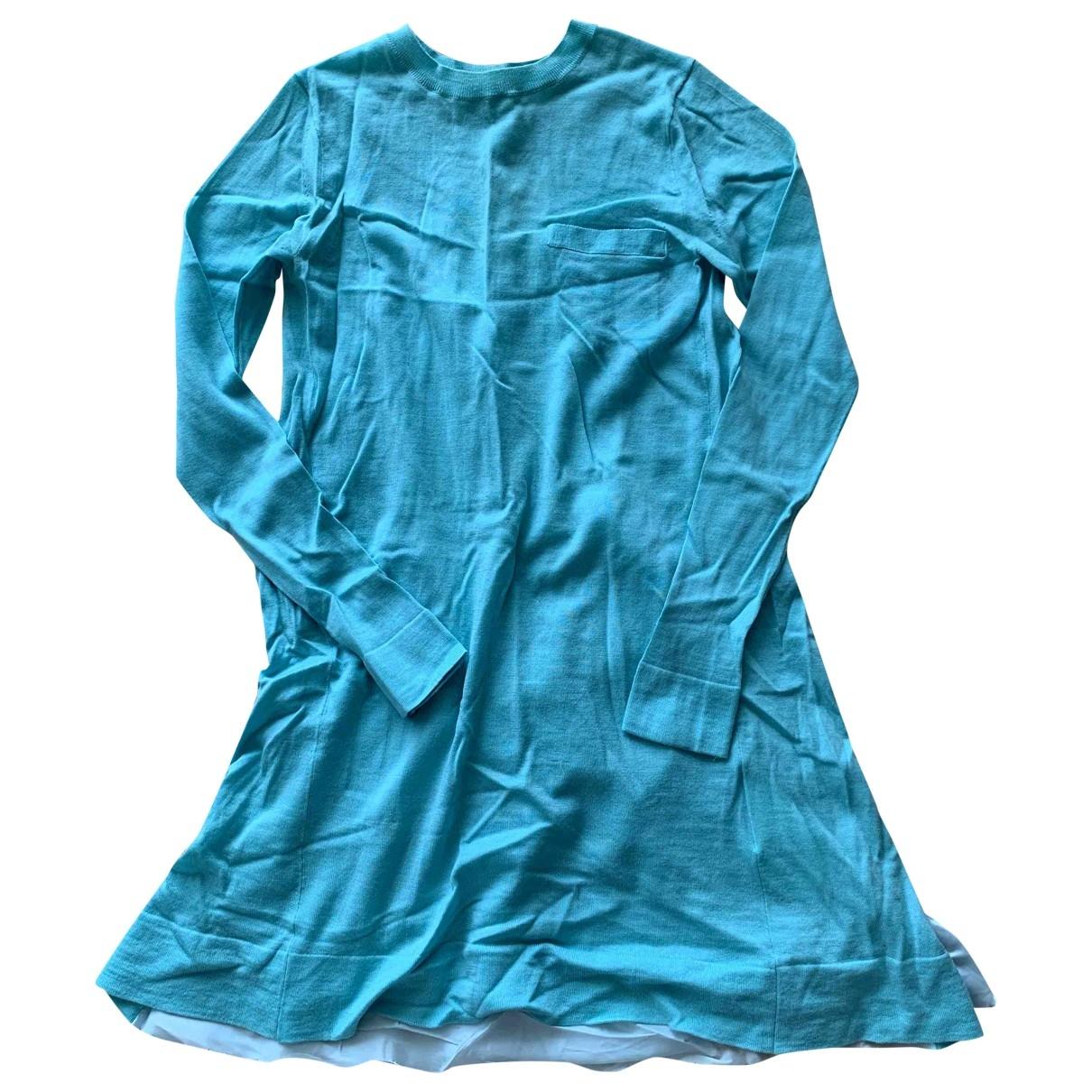 Sacai Luck - Pull   pour femme en laine - turquoise
