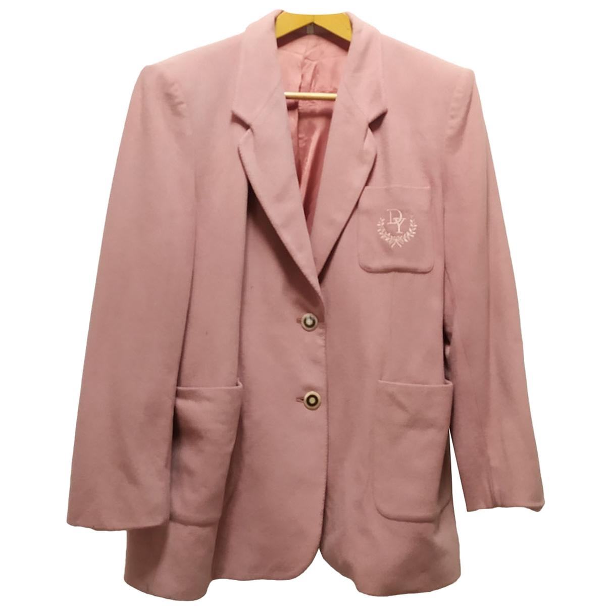- Veste Oversize pour femme en laine - rose