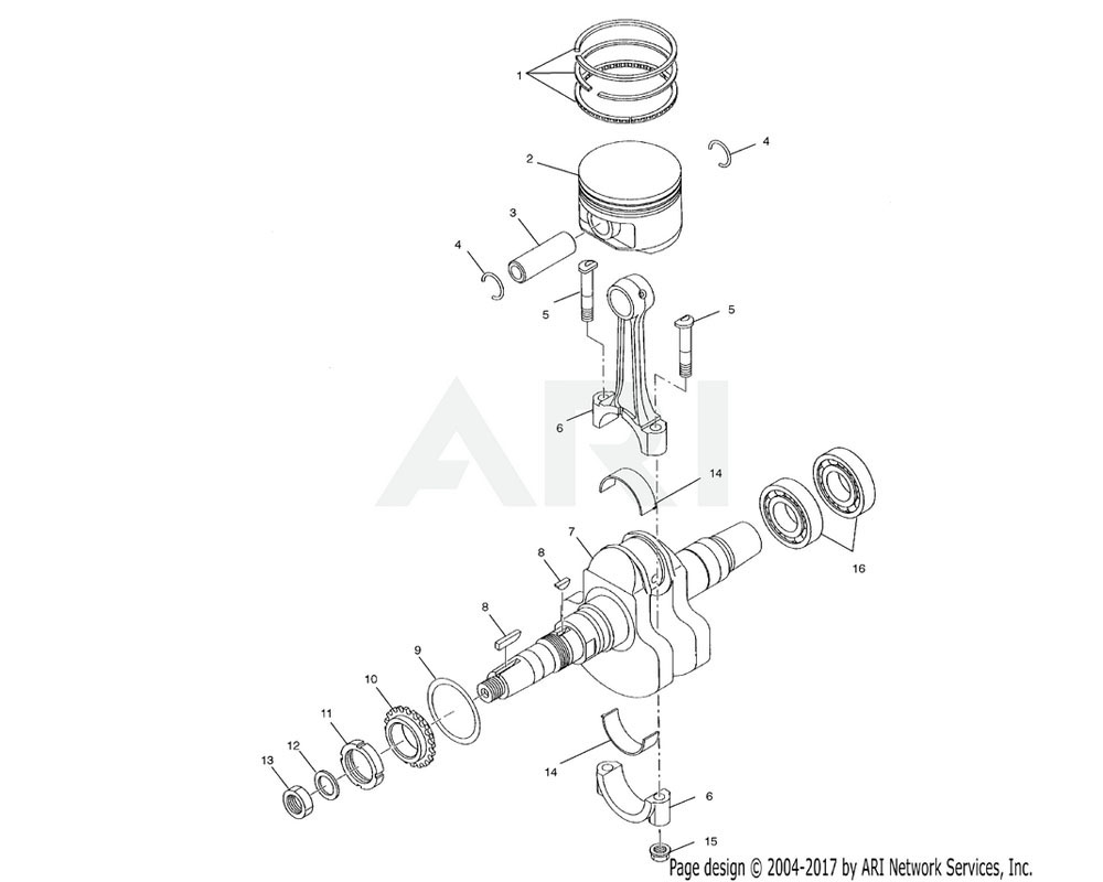 Polaris OEM 3085776 Piston Ring Set | [0.50 O/S]