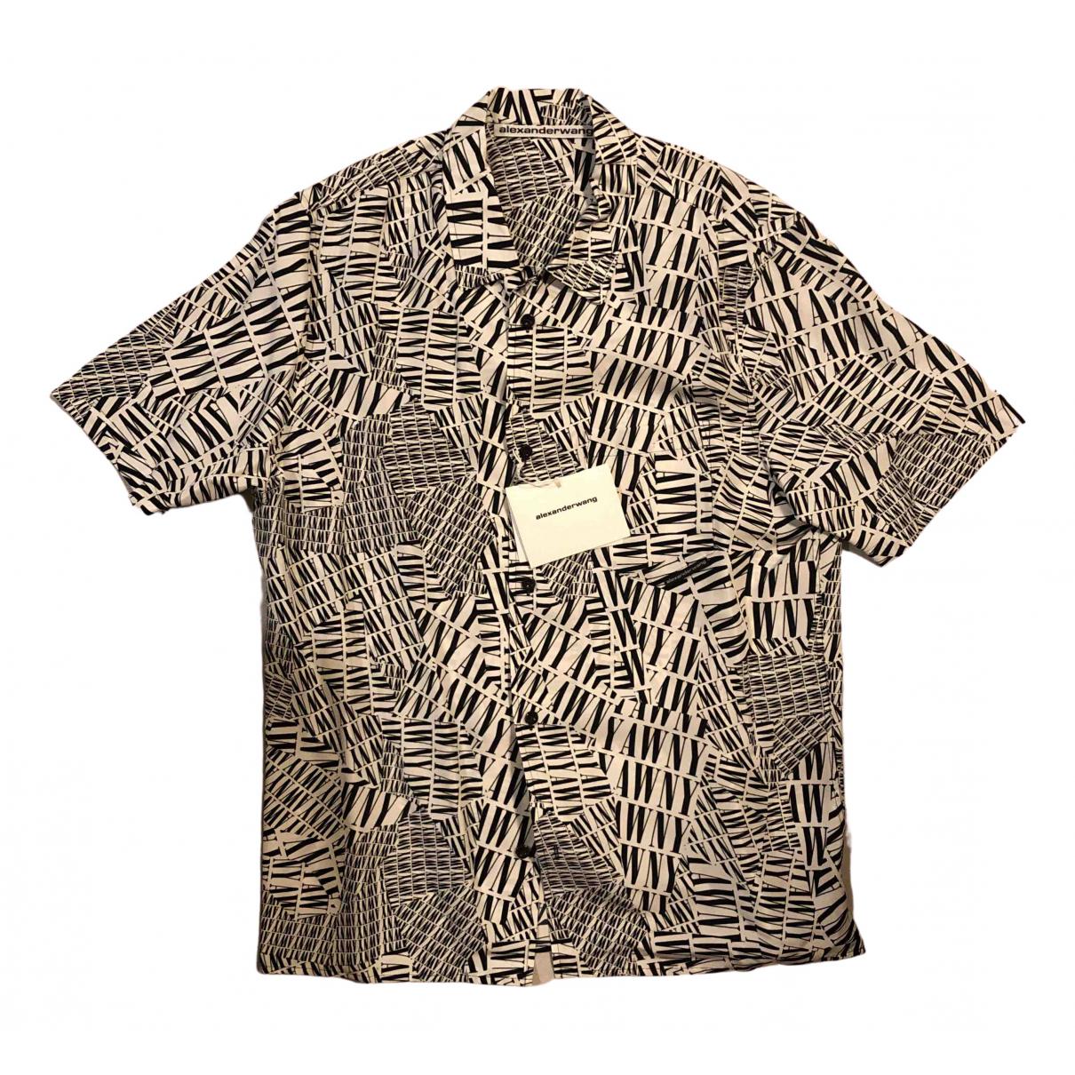 Alexander Wang \N Hemden in  Weiss Seide