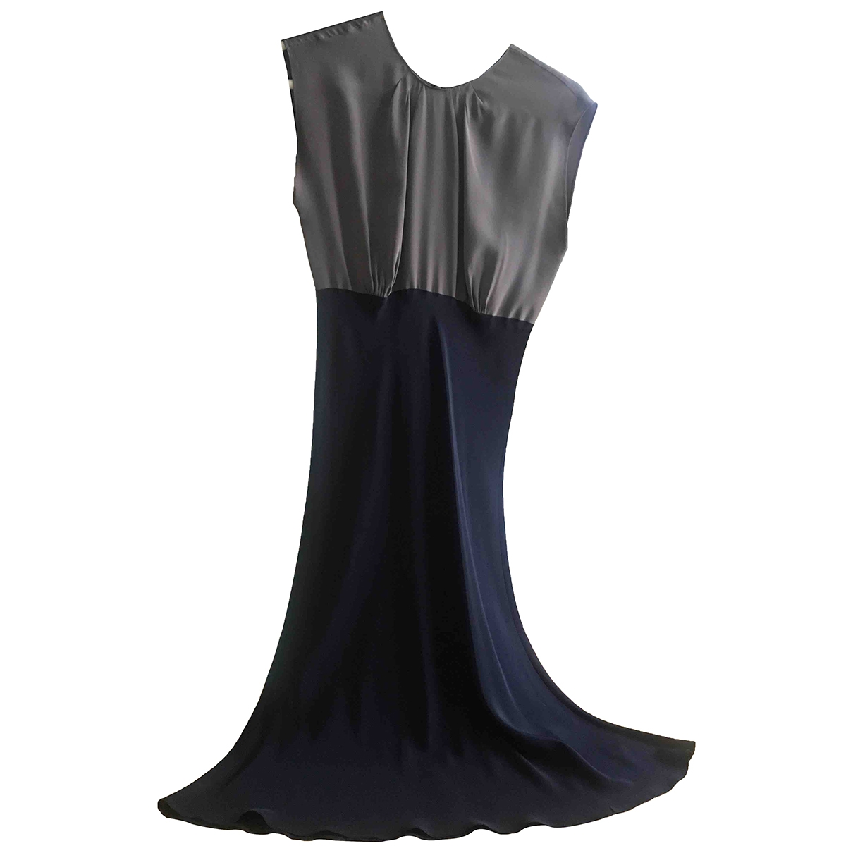 Non Signé / Unsigned \N Navy Silk dress for Women 2 US