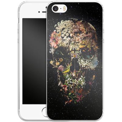 Apple iPhone 5s Silikon Handyhuelle - Smyrna Skull von Ali Gulec