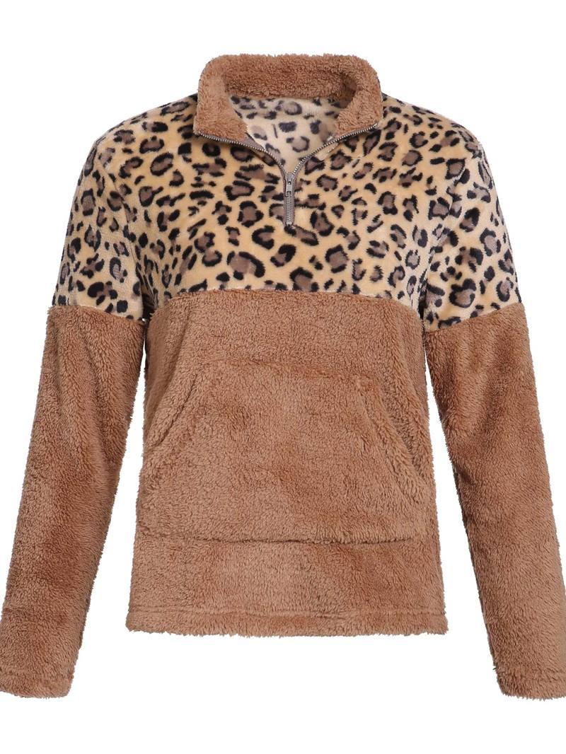 Ericdress Zipper Color Block Standard Long Sleeve Women's Hoodie