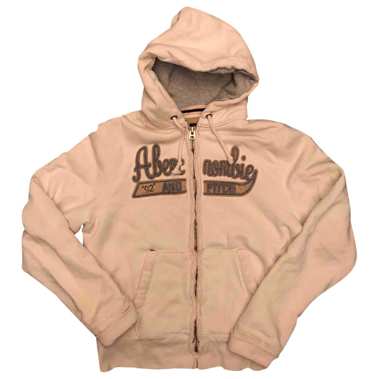 Abercrombie & Fitch \N Pullover.Westen.Sweatshirts  in  Ecru Baumwolle