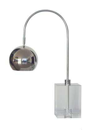 JTL22GH-PN 1-Light Table Lamp with Crystal and Metal Materials and 100 Watts in Polished Nickel