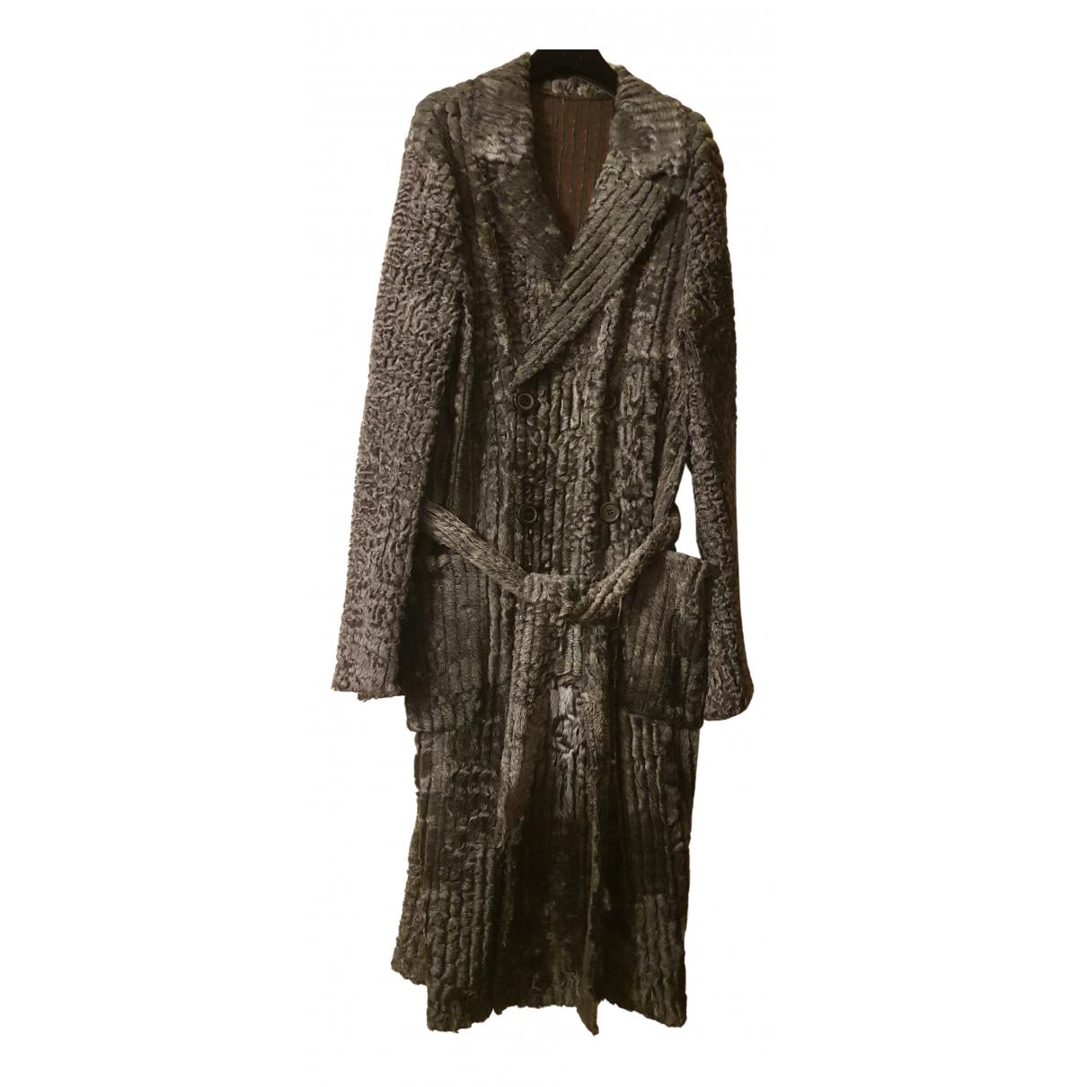 Lanvin N Anthracite Astrakhan coat  for Men L International