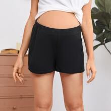 Maternity Solid Shorts