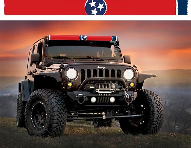 AeroLidz TENNFLG52 LED Light Bar Cover Insert 52 Inch Tennessee Flag