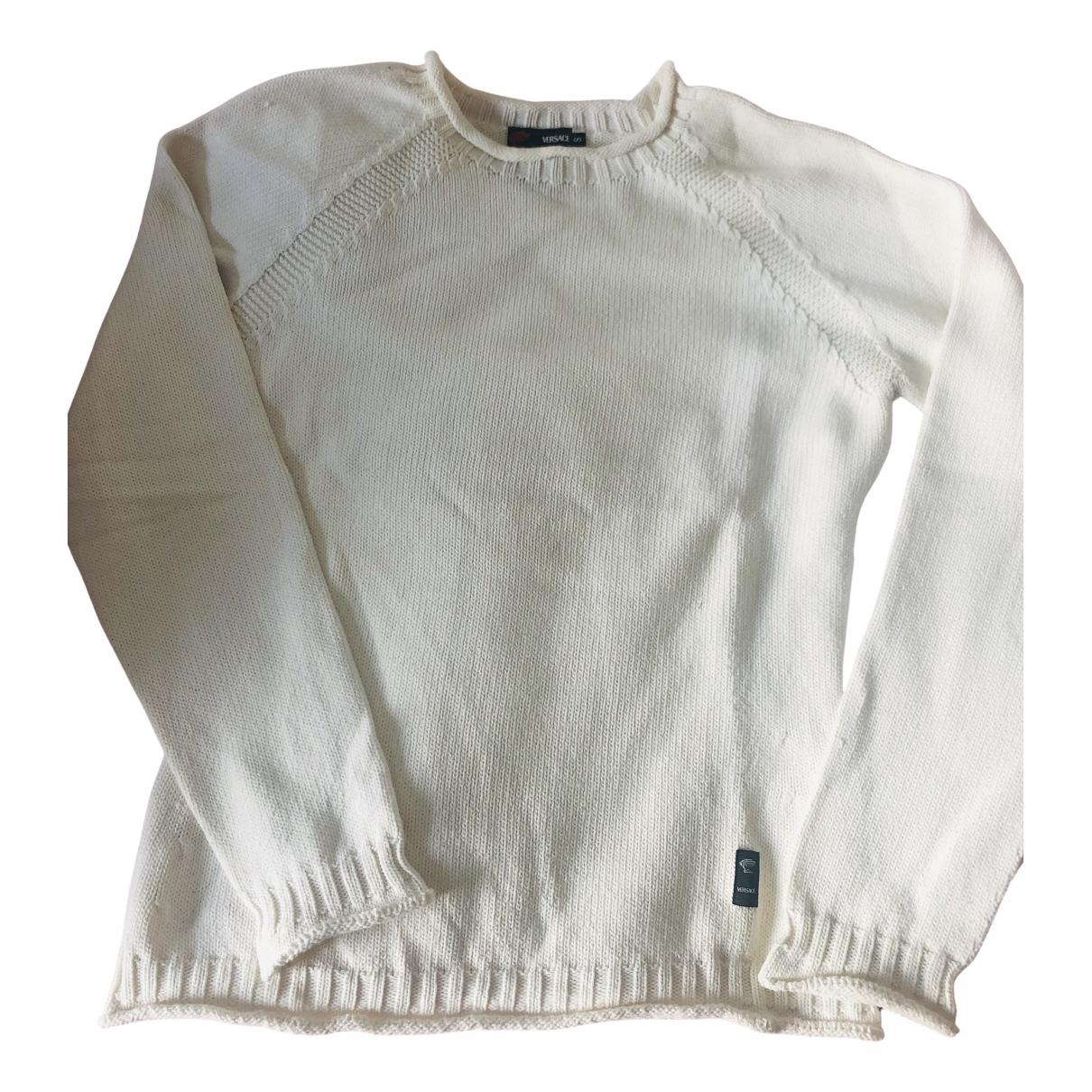 Versace N White Cotton Knitwear for Women S International