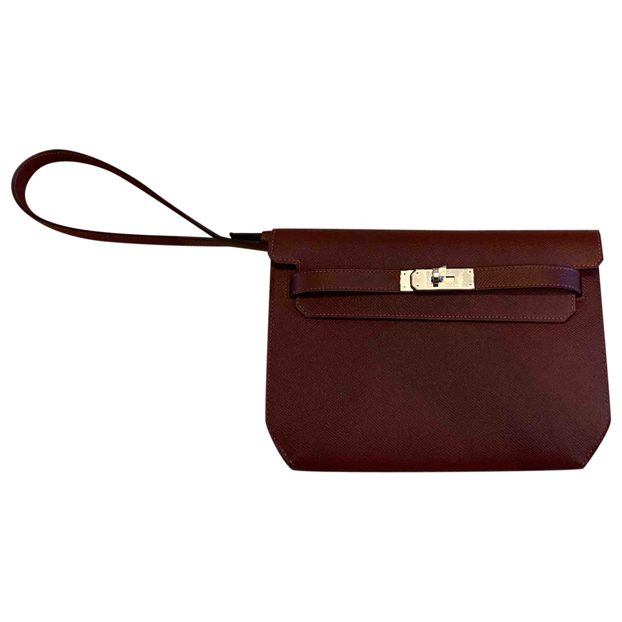 Hermès Kelly Dépêches Burgundy Leather Clutch bag for Women \N