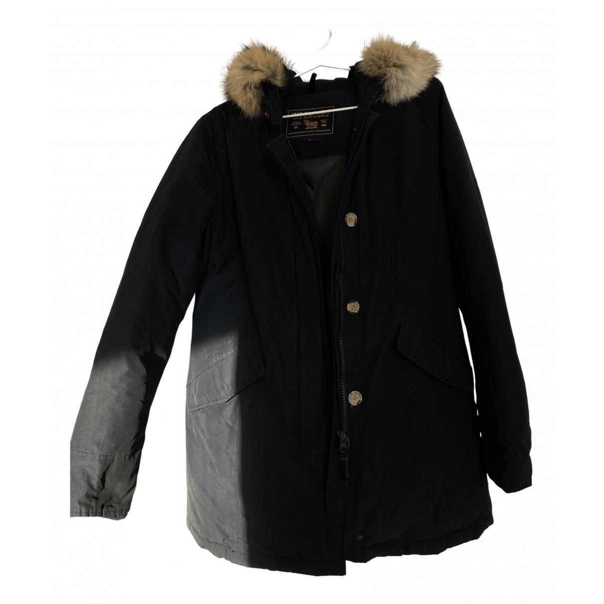 Woolrich - Manteau   pour femme - bleu
